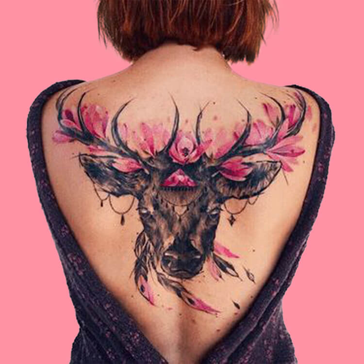 30+ Amazing Animal Back Tattoo designs to try 5