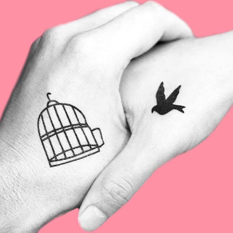 50 Meaningful Matching Couple Tattoo Designs for Lovers to try 17
