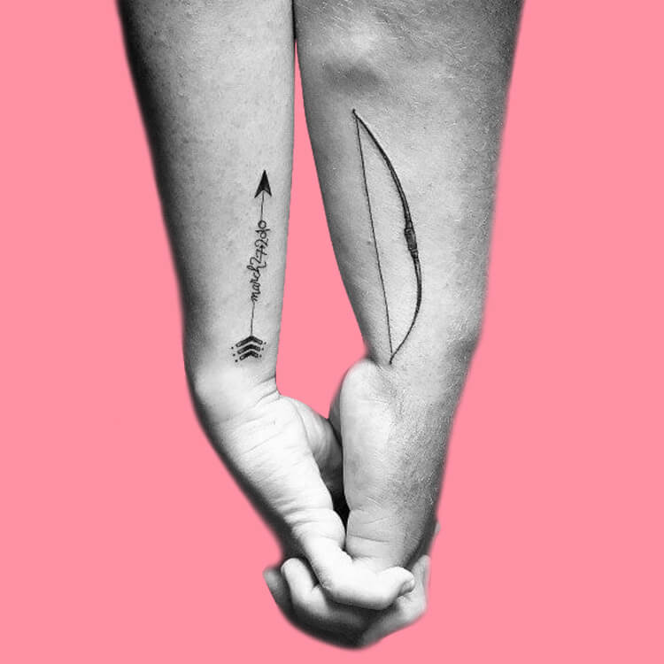 50 Meaningful Matching Couple Tattoo Designs for Lovers to try 19