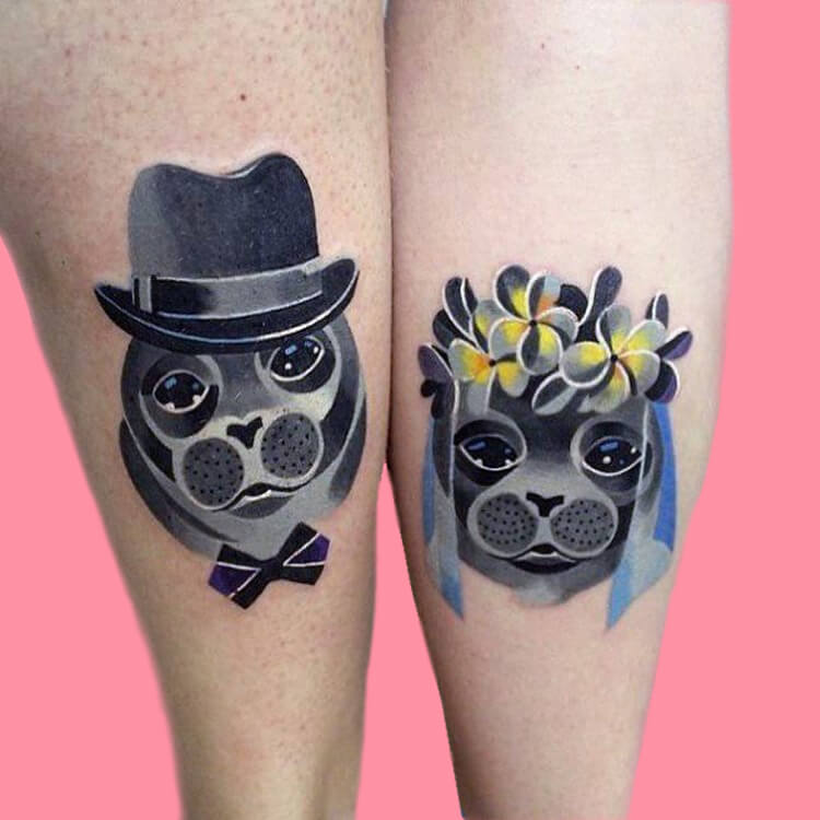 50 Meaningful Matching Couple Tattoo Designs for Lovers to try 29
