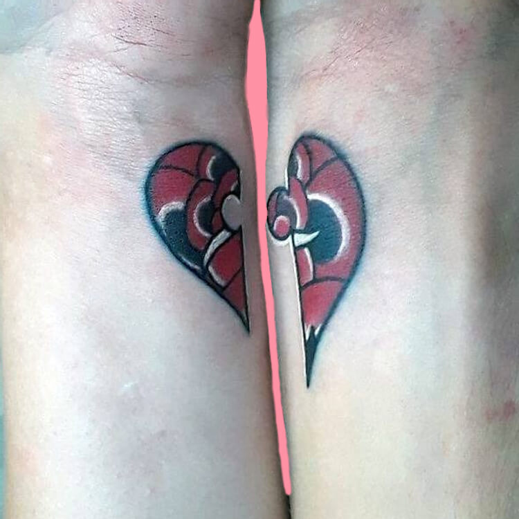 50 Meaningful Matching Couple Tattoo Designs for Lovers to try 3