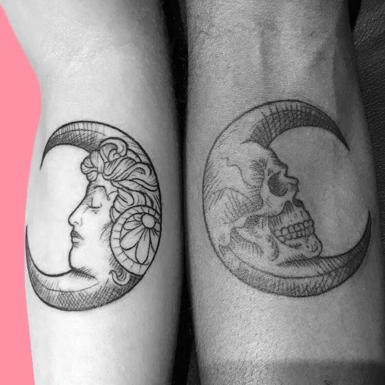 50 Meaningful Matching Couple Tattoo Designs for Lovers to try 33