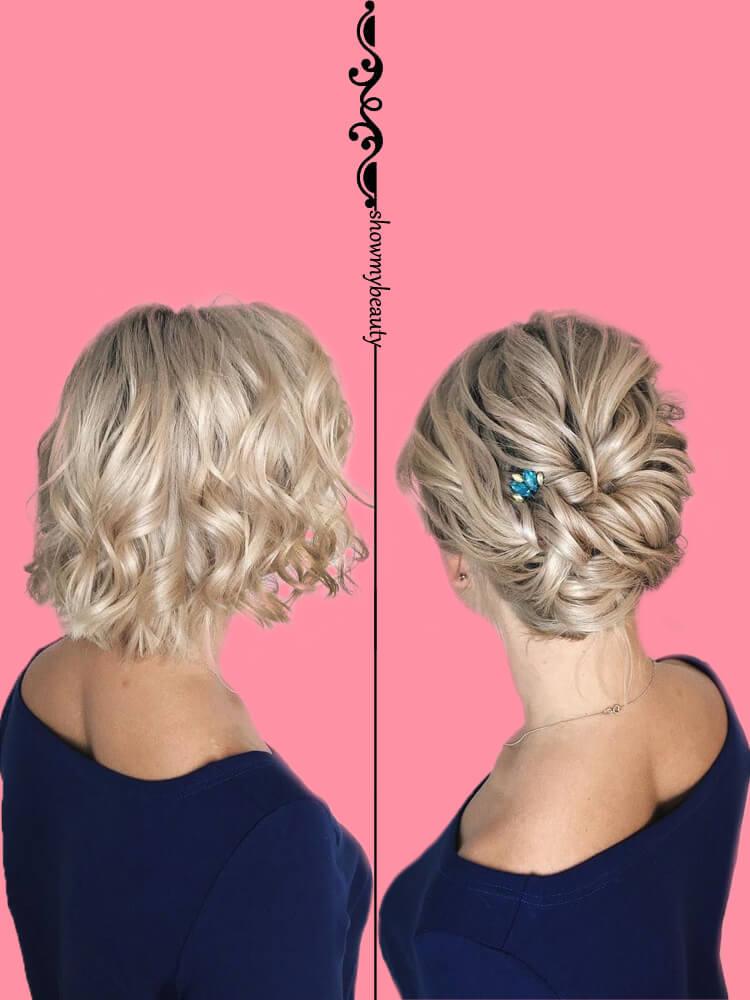 15 Best Wedding Hairstyles for Short Hair 7