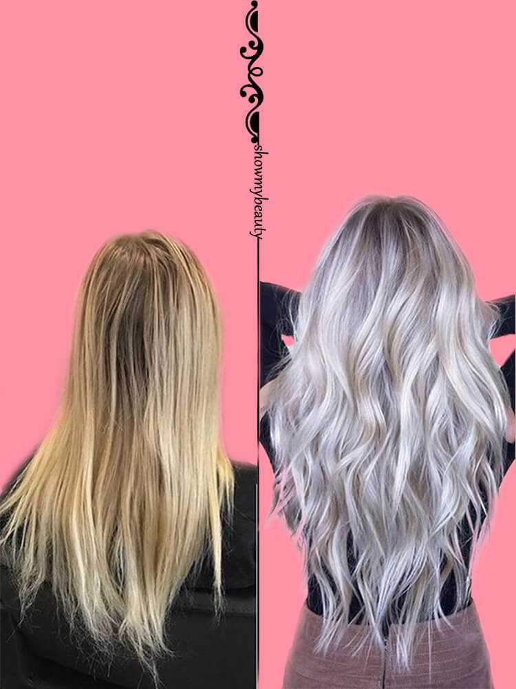 Get Some Platinum on Hair to Inspire Your Hairstyles Before and After 1