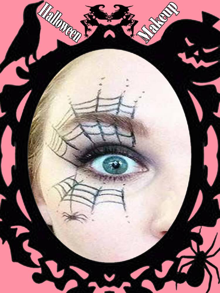 Halloween Eyeliner Makeup Ideas for Ladies 17