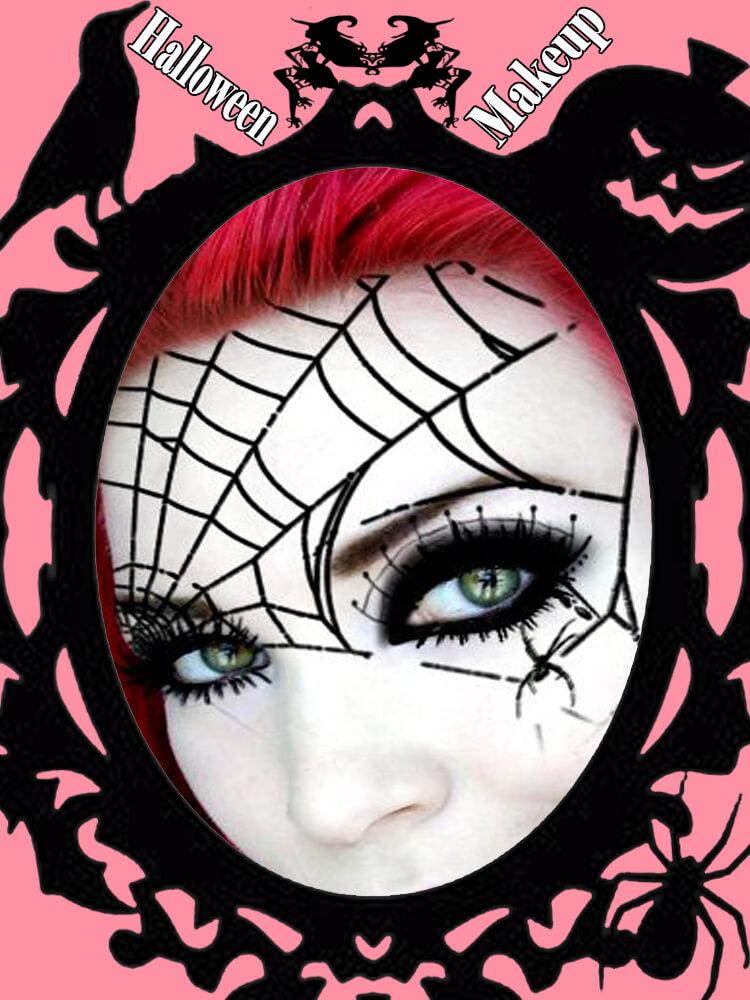 Halloween Eyeliner Makeup Ideas for Ladies 23