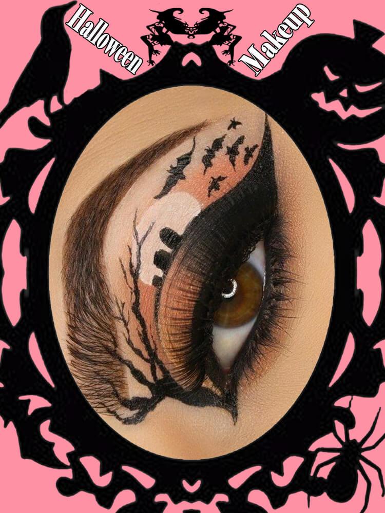 Halloween Eyeliner Makeup Ideas for Ladies 7