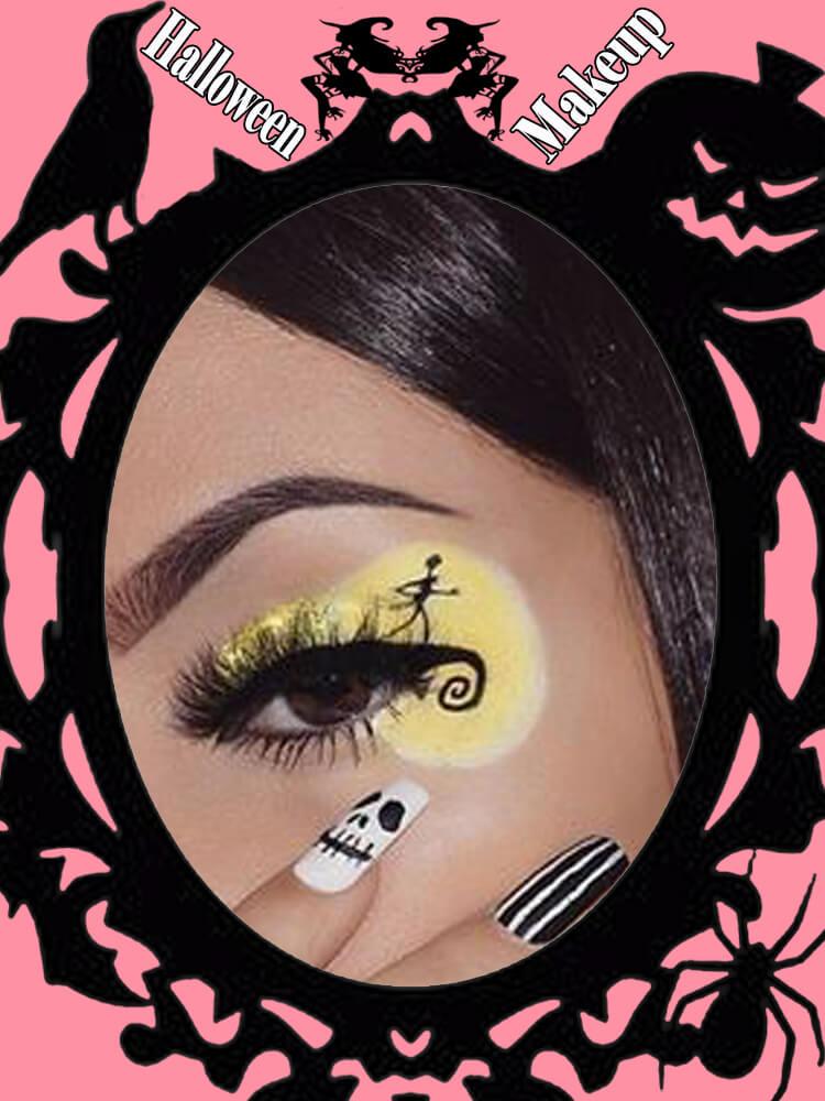 Halloween Eyeliner Makeup Ideas for Ladies 9