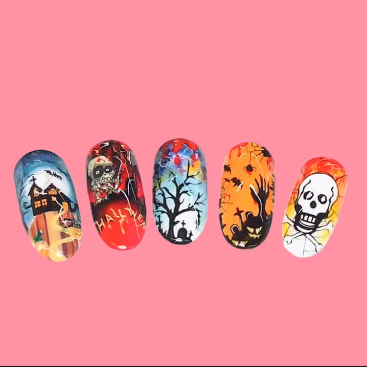 Halloween Nail Art Design 25