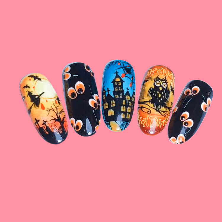 Halloween Nail Art Design 26