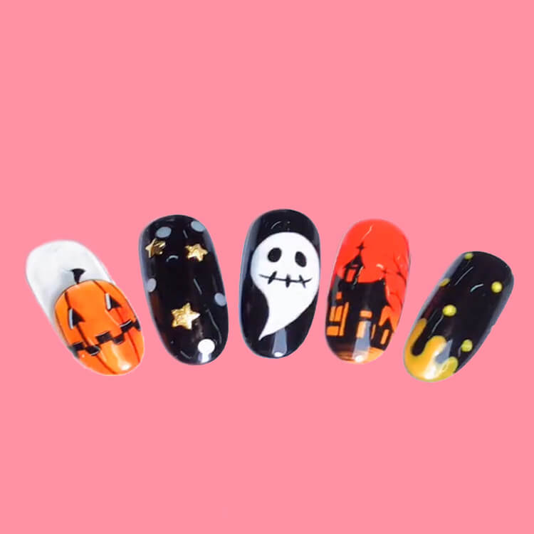 Halloween Nail Art Design 27