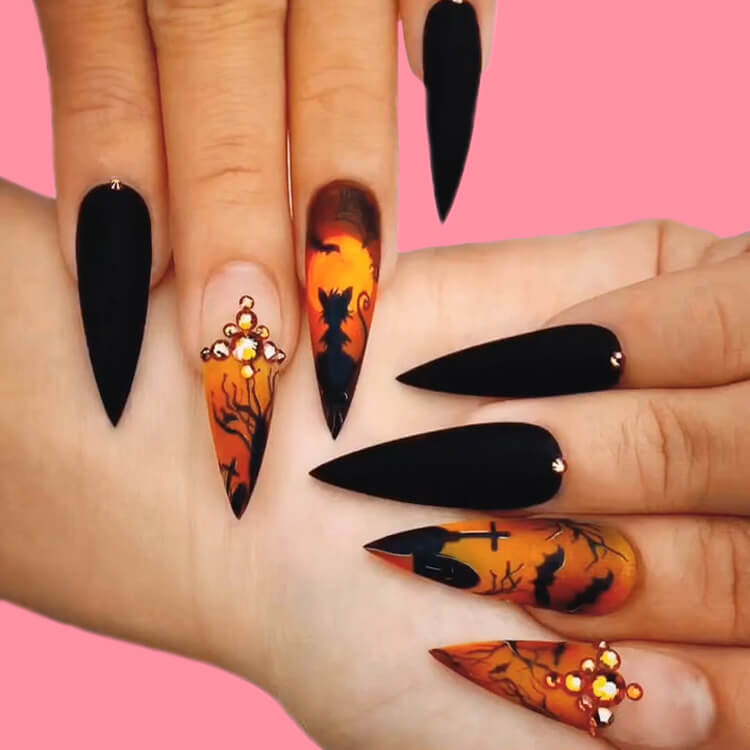 Halloween Nail Art Design 28