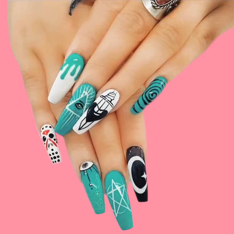 Halloween Nail Art Design 29