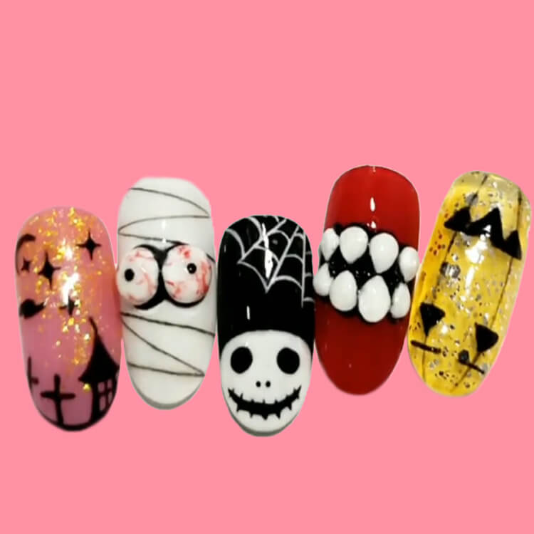 Halloween Nail Art Design 30