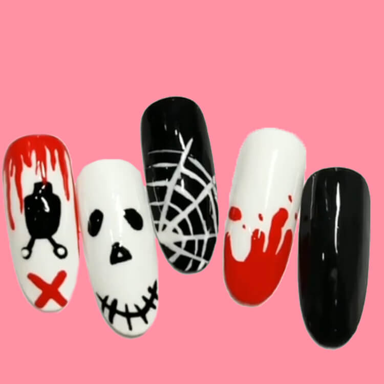 Halloween Nail Art Design 34