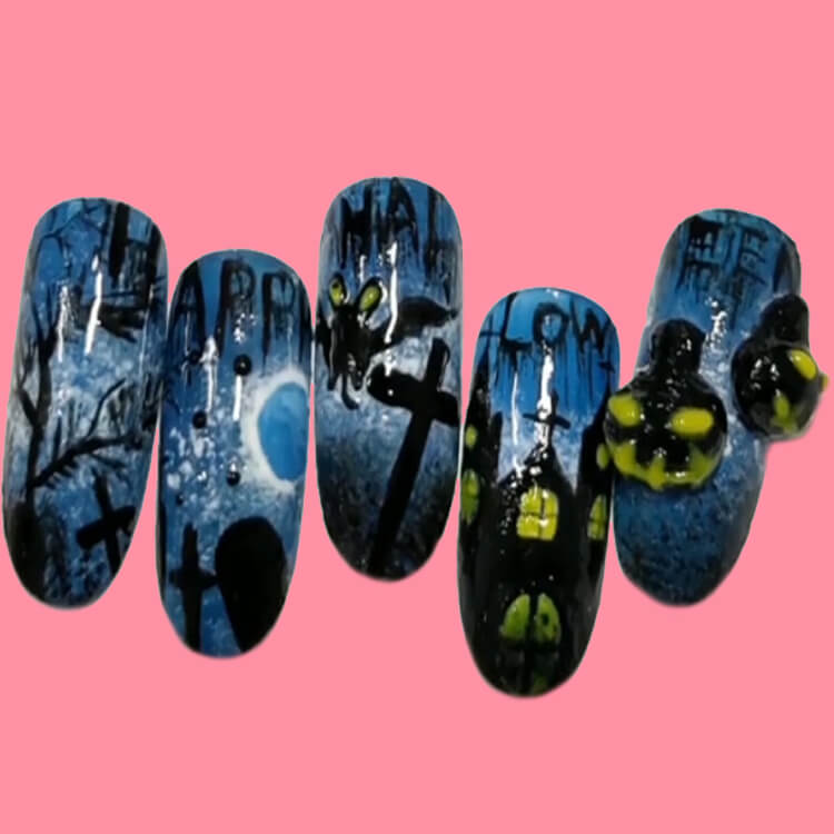 Halloween Nail Art Design 35