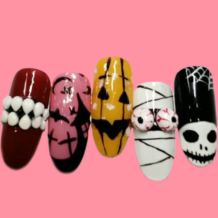Halloween Nail Art Design 36