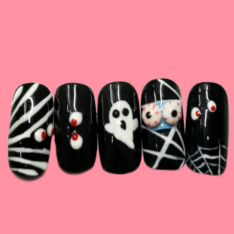 Halloween Nail Art Design 37