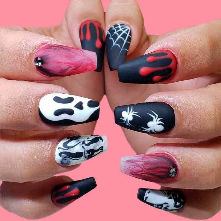 Halloween Nail Art Design 6