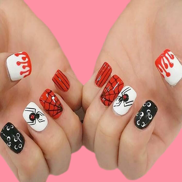 Halloween Nail Art Design 9