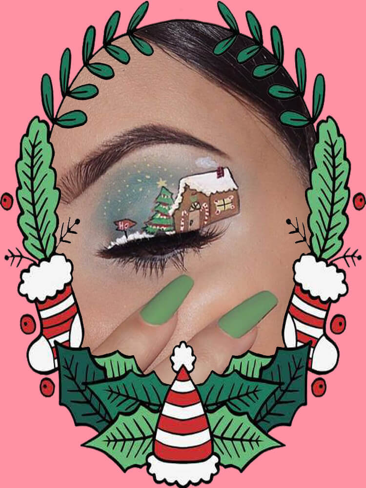 Christmas Eyeshadow Makeup 10