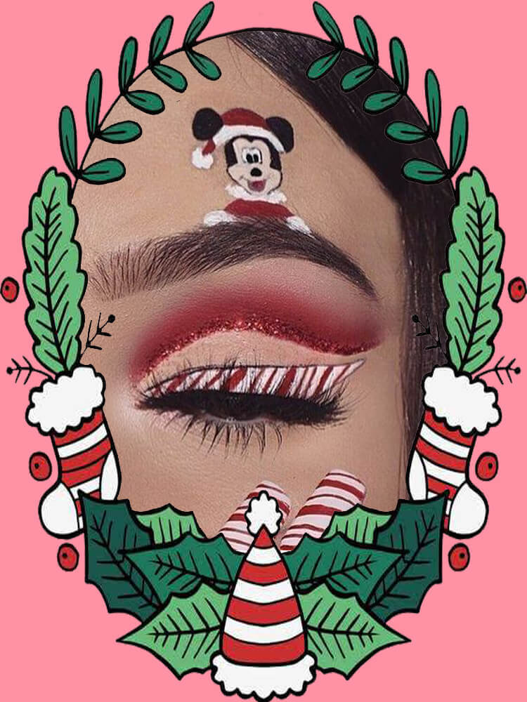 Christmas Eyeshadow Makeup 17