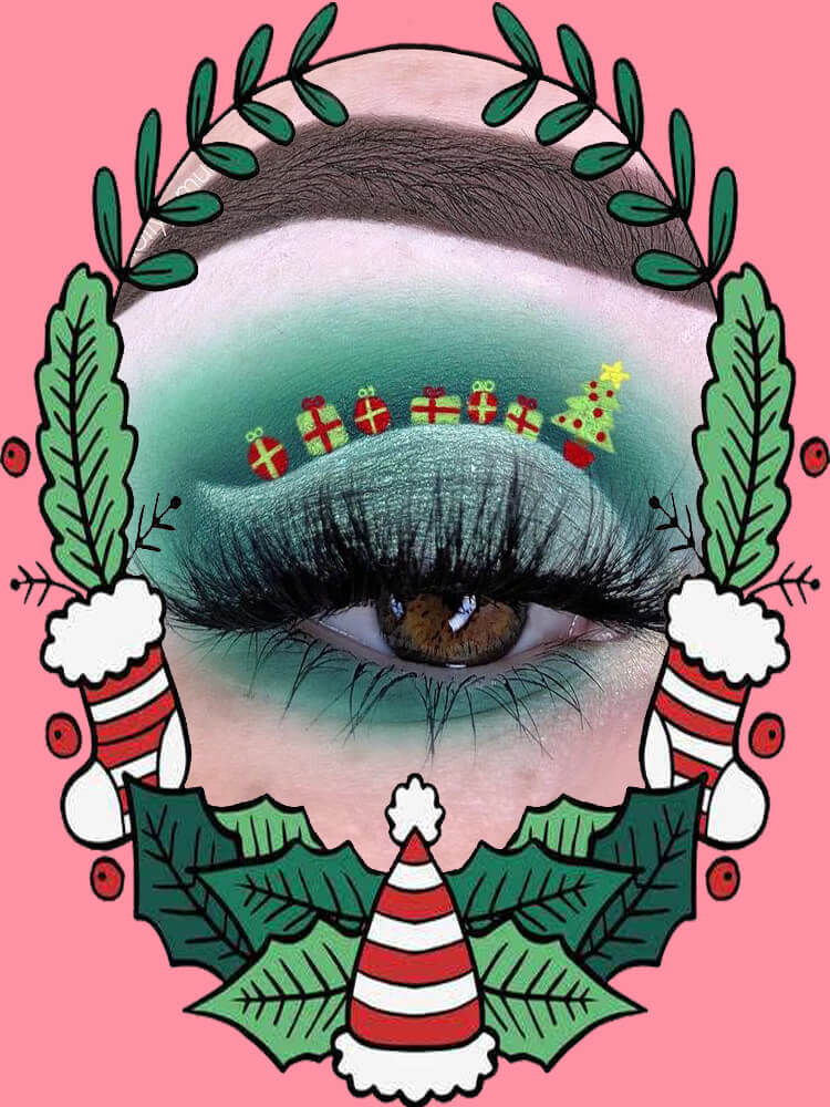 Christmas Eyeshadow Makeup 2