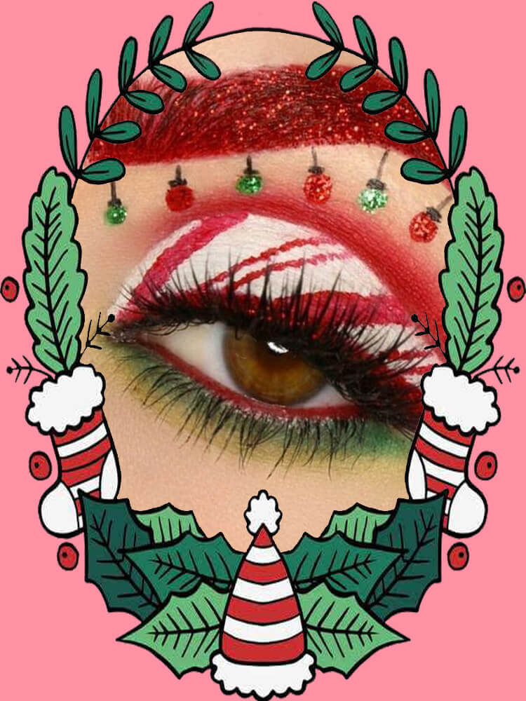 Christmas Eyeshadow Makeup 22