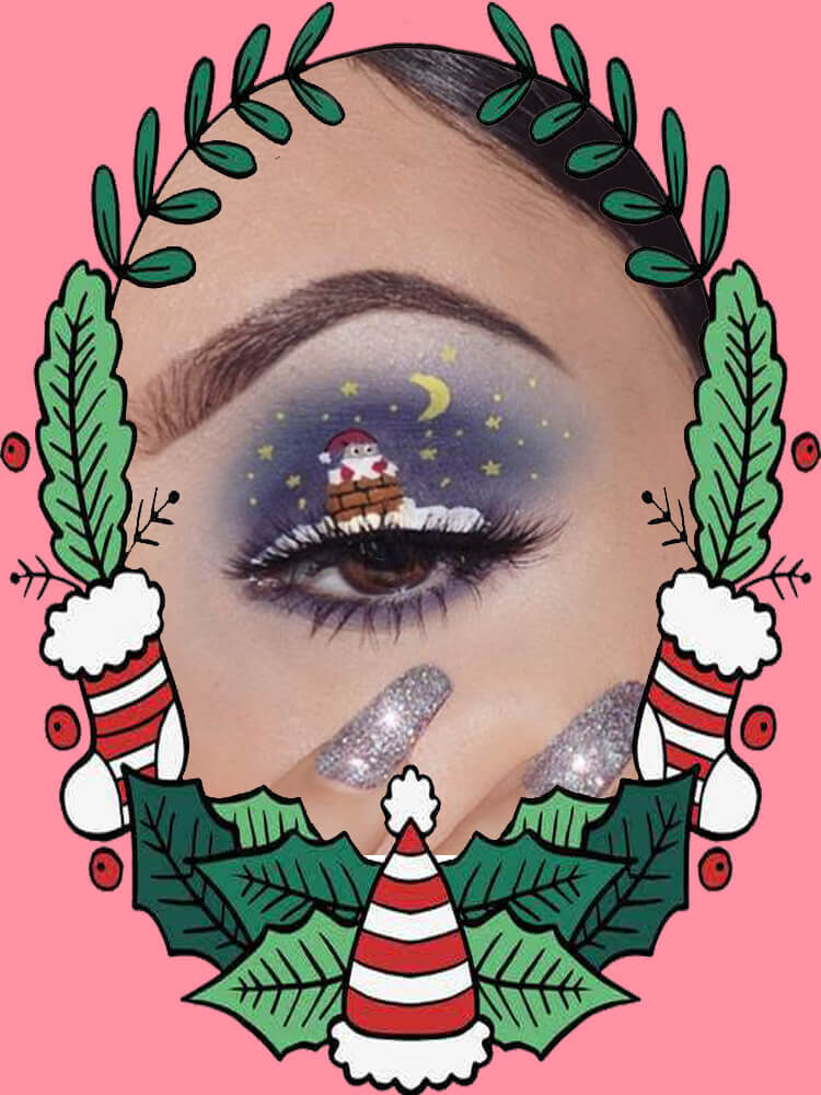 Christmas Eyeshadow Makeup 23