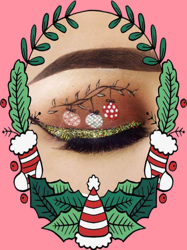 Christmas Eyeshadow Makeup 28