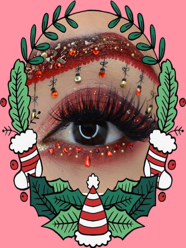 Christmas Eyeshadow Makeup 29