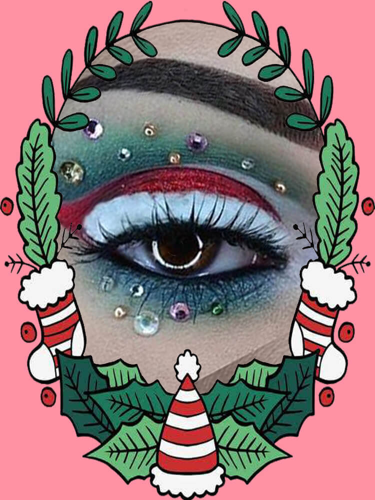Christmas Eyeshadow Makeup 3