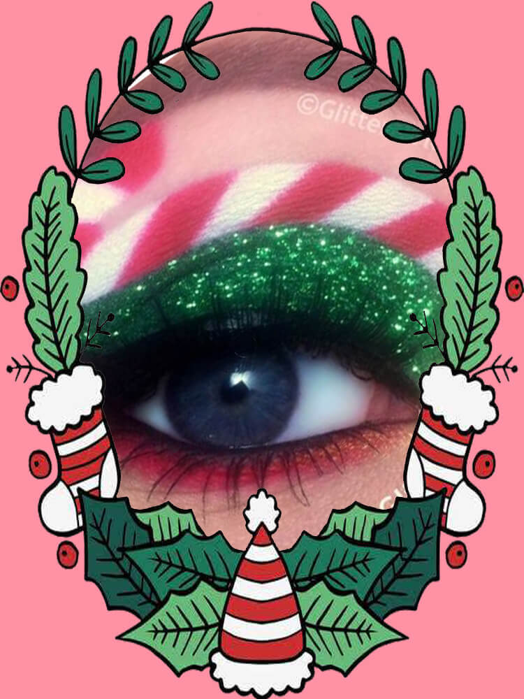 Christmas Eyeshadow Makeup 32