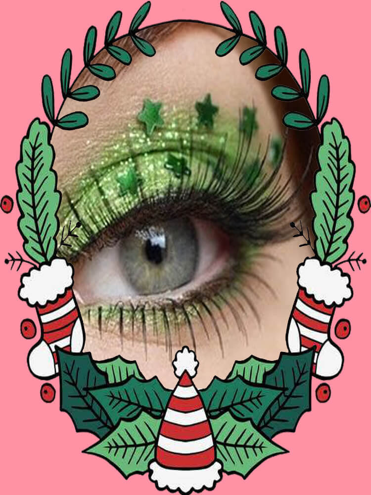 Christmas Eyeshadow Makeup 36