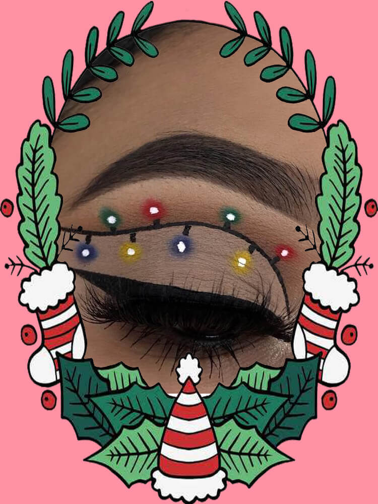 Christmas Eyeshadow Makeup 5