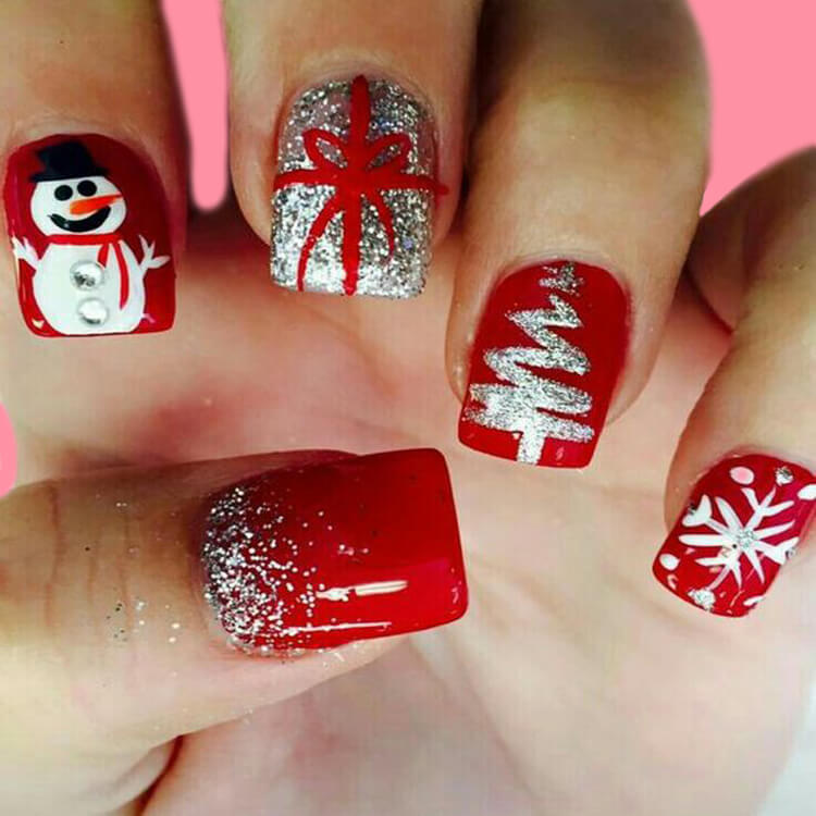 Show all the Christmas Nail Ideas and Winter Nail Designs