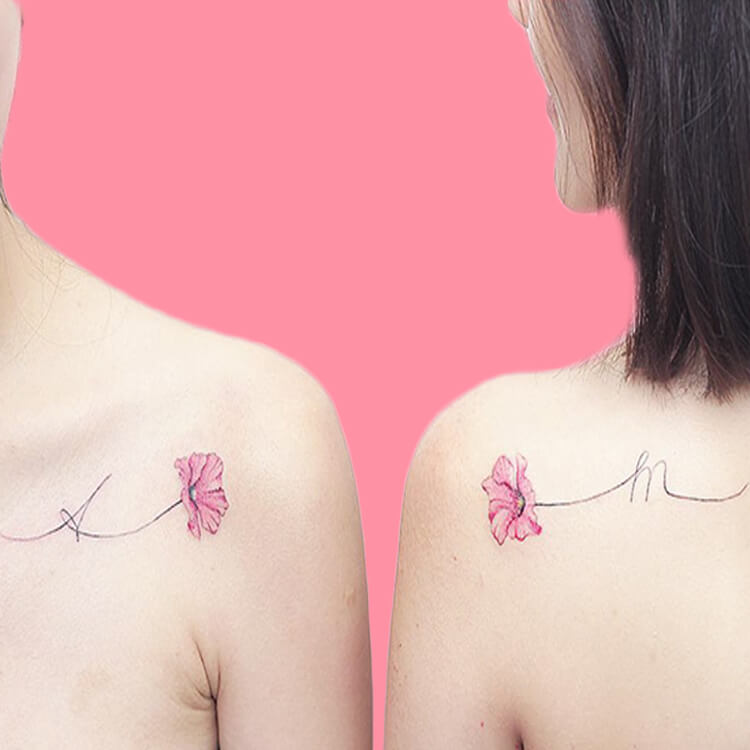 30+ Meaningful Matching BFF Tattoos Designs to Try for Ladies and Sisters 33