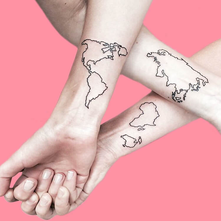 30+ Meaningful Matching BFF Tattoos Designs to Try for Ladies and Sisters 35