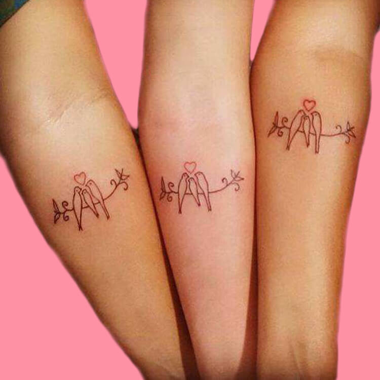 30+ Meaningful Matching BFF Tattoos Designs to Try for Ladies and Sisters 41