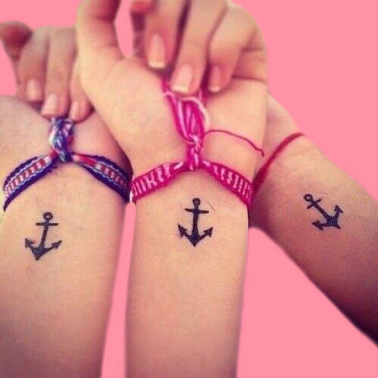 30+ Meaningful Matching BFF Tattoos Designs to Try for Ladies and Sisters 46