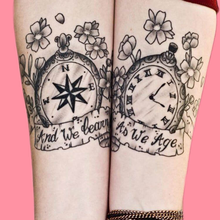 50 Meaningful Matching Couple Tattoo Designs for Lovers to try 51