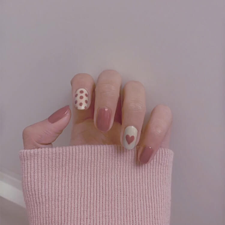 Valentine's Day Hearts Nail Designs 10
