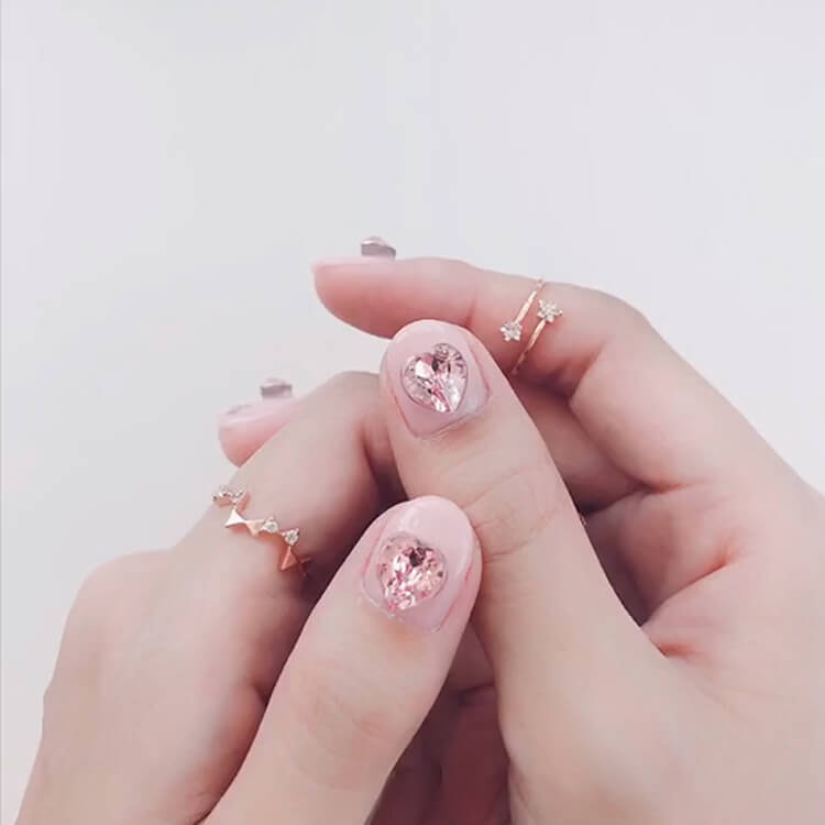 Valentine's Day Hearts Nail Designs 15