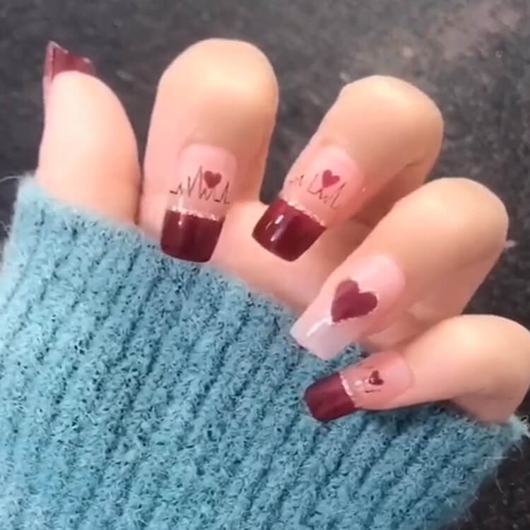 Valentine's Day Hearts Nail Designs 4