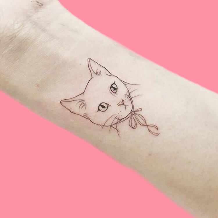 54 Cutest Cat Tattoo Designs to try 62
