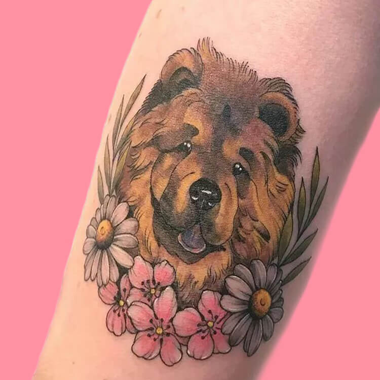 Dog Tattoo Ideas That Will Melt Heart 11