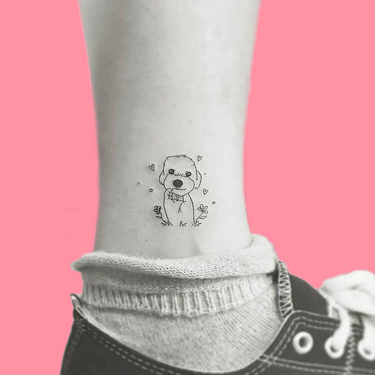 Dog Tattoo Ideas That Will Melt Heart 14