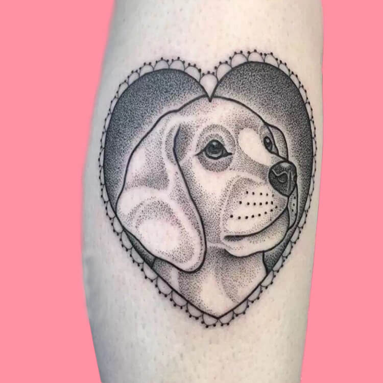 Dog Tattoo Ideas That Will Melt Heart 15