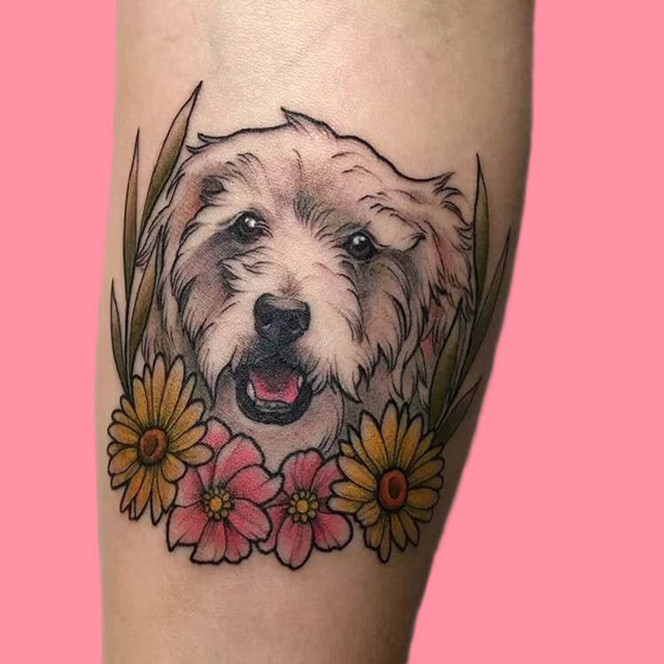 Dog Tattoo Ideas That Will Melt Heart 16