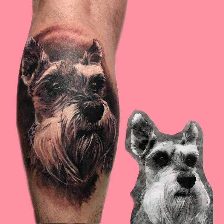 Dog Tattoo Ideas That Will Melt Heart 2
